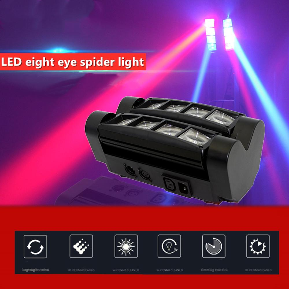Promote sale Mini LED Beam Spider 8pcsRGBW Moving Head Lighting LED Stage Light Good For Parties DJ Disco Wedding Decoration