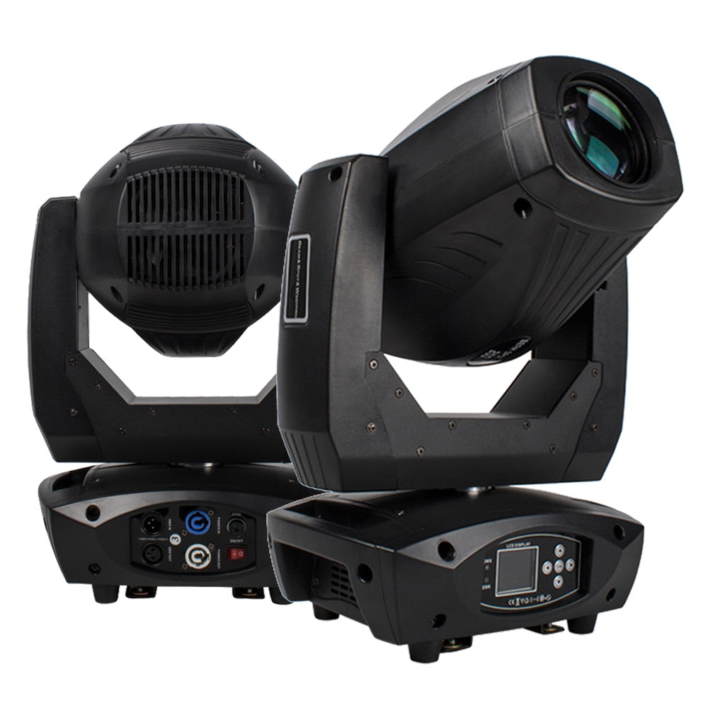 200W LED Beam Spot Wash 3in1 Moving Head Light Zoom Function 18 Channels DMX512 DJ Stage Christmas Disco Light Party Lyre