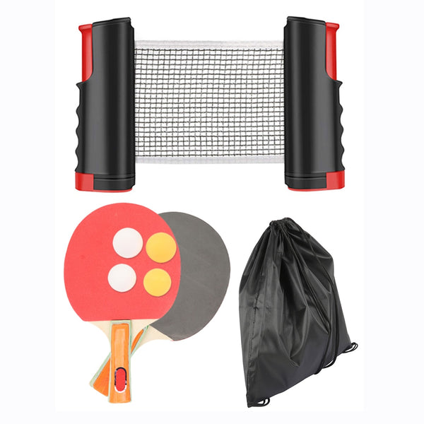 Professional Table Tennis Sports Trainning Set Racket Blade Mesh Net Ping Pong Retractable Student Sports Equipment Portable