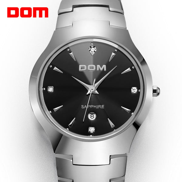 DOM men Tungsten Steel Wrist Watch