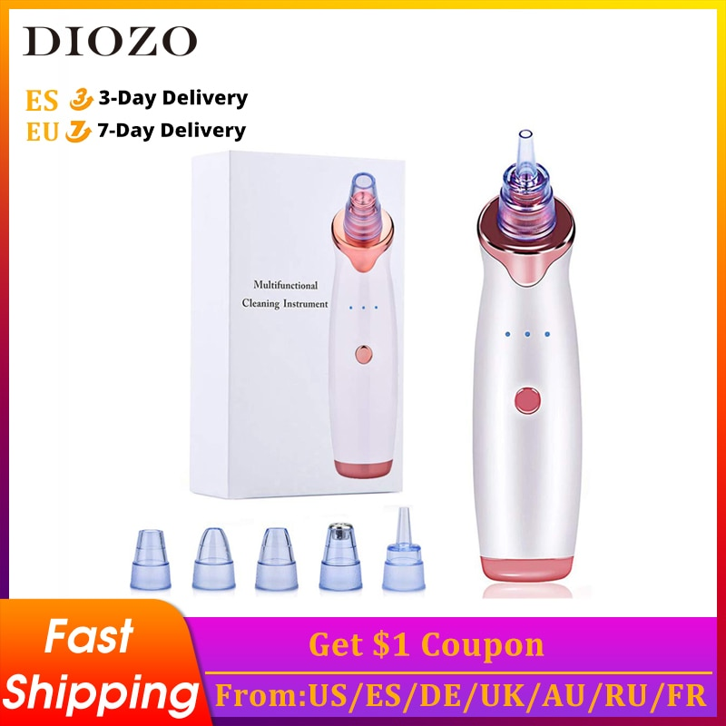 DIOZO Blackhead Remover Pore Acne Pimple Removal Face Deep Nose Cleaner Vacuum Suction Facial Diamond Beauty Clean Skin Tool