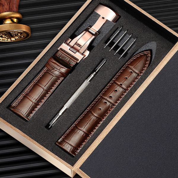 Genuine Leather Watch Strap 12-24MM Men Women Watch