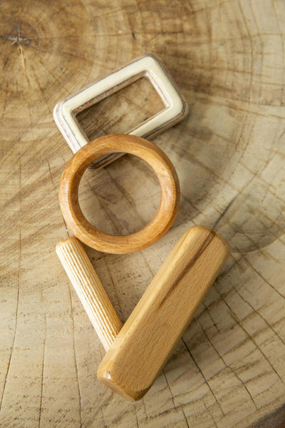 Montessori Wooden Rattles and Teethers
