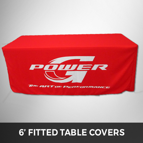 6' Fitted - Custom Printed Table Cover (Full Color Printing)