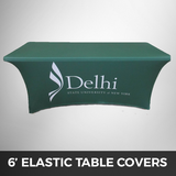 6' Stretched Elastic - Custom Printed Table Cover