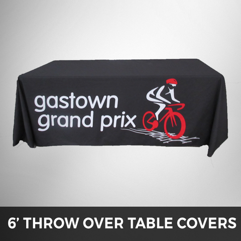 6' Throw Over - Custom Printed Table Cover