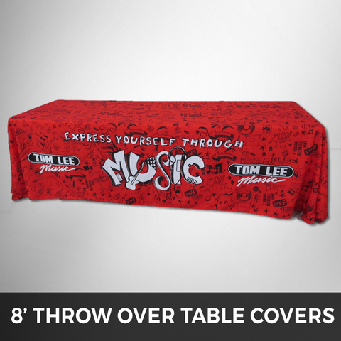 8' Throw Over - Custom Printed Table Cover