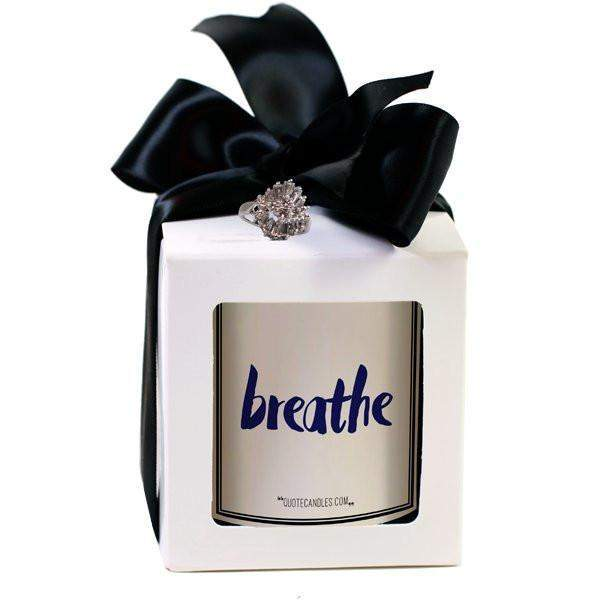 Breathe Quote Candles-The Official Website of Jewelry Candles - Find Jewelry In Candles!