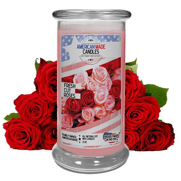 Fresh Cut Roses | American Made Candle®-American Made Candles | Family Owned. American Made. Jewelry Candles-The Official Website of Jewelry Candles - Find Jewelry In Candles!