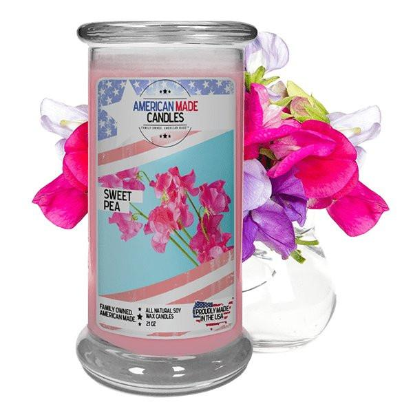Sweet Pea American Made Candle-American Made Candles | Family Owned. American Made. Jewelry Candles-The Official Website of Jewelry Candles - Find Jewelry In Candles!