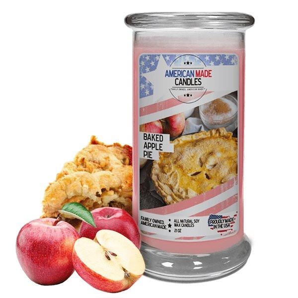 Baked Apple Pie American Made Candle-American Made Candles | Family Owned. American Made. Jewelry Candles-The Official Website of Jewelry Candles - Find Jewelry In Candles!