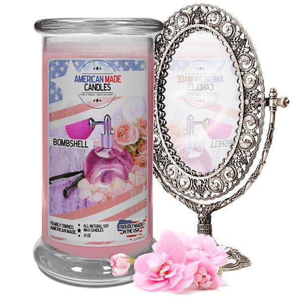 Bombshell American Made Candle-American Made Candles | Family Owned. American Made. Jewelry Candles-The Official Website of Jewelry Candles - Find Jewelry In Candles!