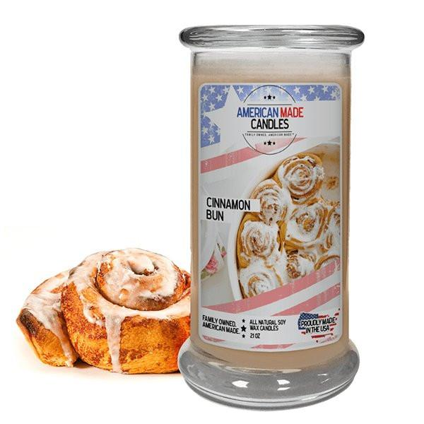 Cinnamon Bun American Made Candle-American Made Candles | Family Owned. American Made. Jewelry Candles-The Official Website of Jewelry Candles - Find Jewelry In Candles!