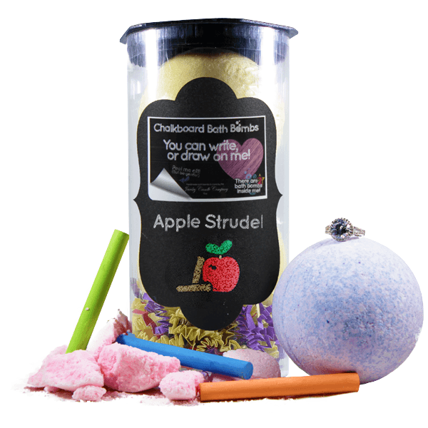 Apple Strudel | Jewelry Chalkboard Bath Bombs-Chalkboard Bath Bombs-The Official Website of Jewelry Candles - Find Jewelry In Candles!