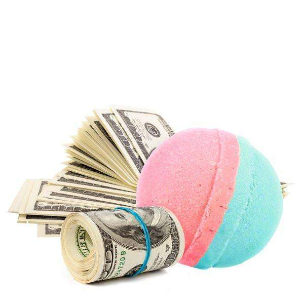 Strawberry Fields Single Cash Bath Bomb-Cash Bath Bombs-The Official Website of Jewelry Candles - Find Jewelry In Candles!