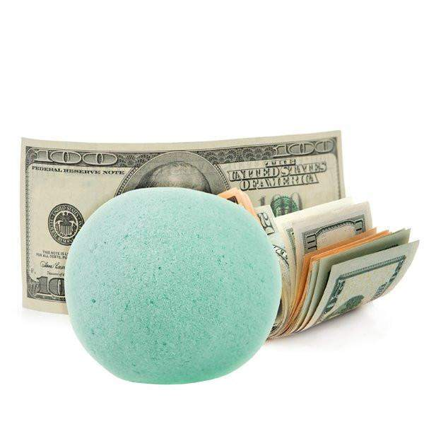 Peppermint Patty Single Cash Bath Bomb-Cash Bath Bombs-The Official Website of Jewelry Candles - Find Jewelry In Candles!