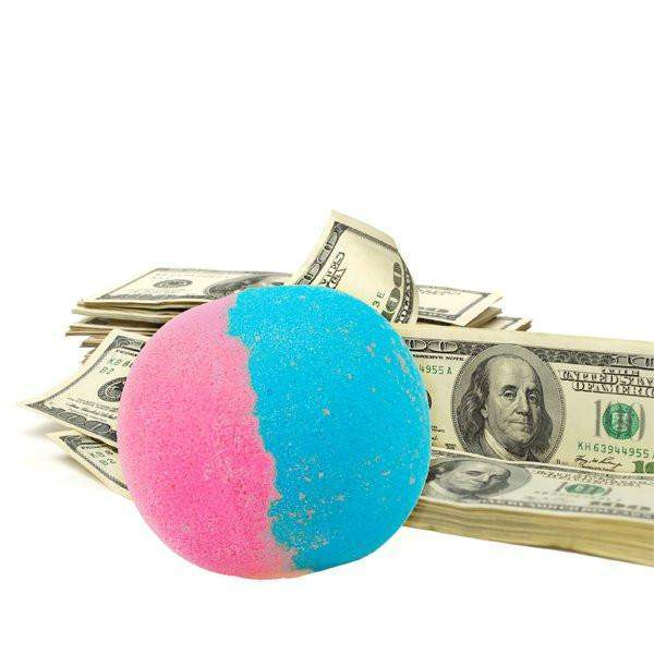Cotton Candy Single Cash Bath Bomb-Cash Bath Bombs-The Official Website of Jewelry Candles - Find Jewelry In Candles!