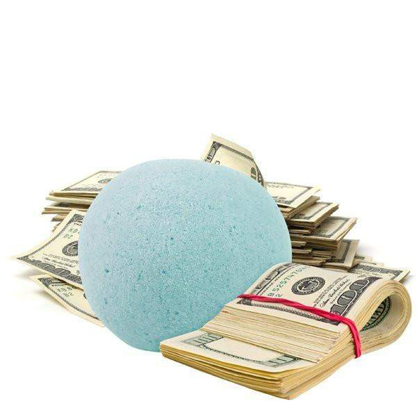Cucumber Mint Single Cash Bath Bomb-Cash Bath Bombs-The Official Website of Jewelry Candles - Find Jewelry In Candles!