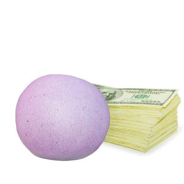 Watermelon Splash Single Cash Bath Bomb-Cash Bath Bombs-The Official Website of Jewelry Candles - Find Jewelry In Candles!