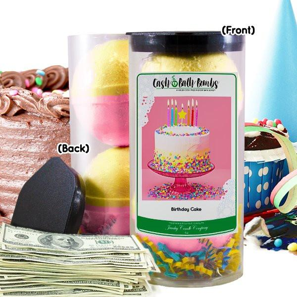 Birthday Cake Cash Bath Bomb-Cash Bath Bombs-The Official Website of Jewelry Candles - Find Jewelry In Candles!