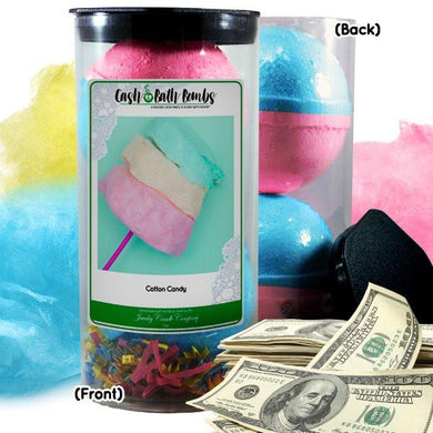 Cotton Candy Cash Bath Bombs Tube-Cash Bath Bombs-The Official Website of Jewelry Candles - Find Jewelry In Candles!