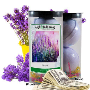 Lavender Cash Bath Bombs Tube-Cash Bath Bombs-The Official Website of Jewelry Candles - Find Jewelry In Candles!