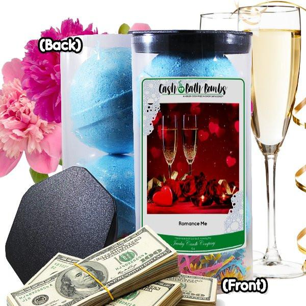 Romance Me Cash Bath Bombs Tube-Cash Bath Bombs-The Official Website of Jewelry Candles - Find Jewelry In Candles!