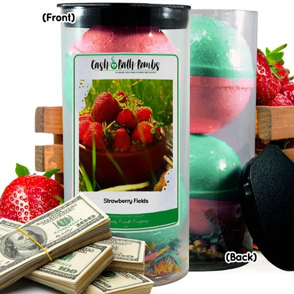 Strawberry Fields Cash Bath Bombs-Cash Bath Bombs-The Official Website of Jewelry Candles - Find Jewelry In Candles!