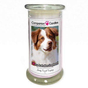 I Love My Australian Shepherd! - Pet Photo Companion Candles - Pet Lover Gifts-Companion Candles-The Official Website of Jewelry Candles - Find Jewelry In Candles!