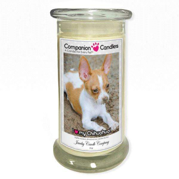 I Love My Chihuahua! - Pet Photo Companion Candles - Pet Lover Gifts-Companion Candles-The Official Website of Jewelry Candles - Find Jewelry In Candles!