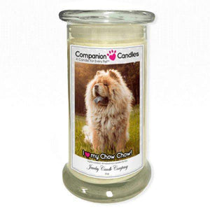 I Love My Chow Chow! - Pet Photo Companion Candles - Pet Lover Gifts-Companion Candles-The Official Website of Jewelry Candles - Find Jewelry In Candles!