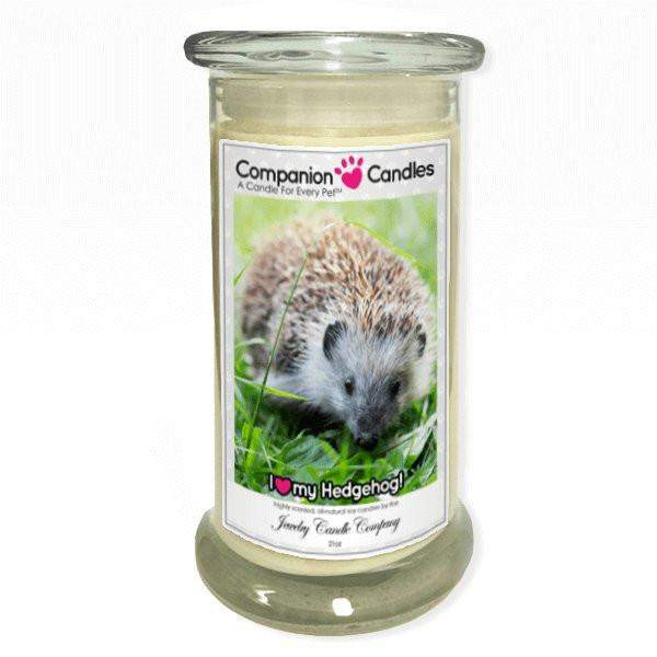 I Love My Hedgehog! - Pet Photo Companion Candles - Pet Lover Gifts-Companion Candles-The Official Website of Jewelry Candles - Find Jewelry In Candles!