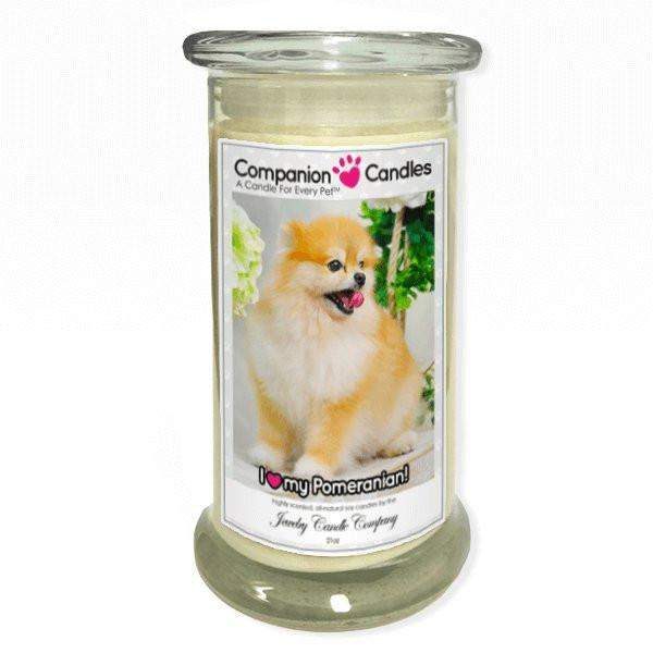 I Love My Pomeranian! - Pet Photo Companion Candles - Pet Lover Gifts-Companion Candles-The Official Website of Jewelry Candles - Find Jewelry In Candles!
