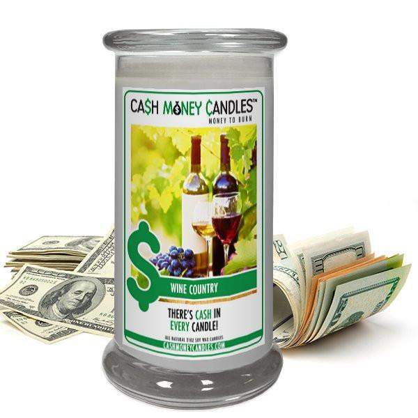 Wine Country Cash Money Candles-Cash Money Candles-The Official Website of Jewelry Candles - Find Jewelry In Candles!