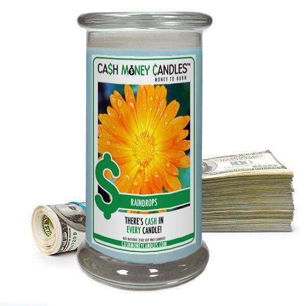 Raindrops Cash Money Candles-Cash Money Candles-The Official Website of Jewelry Candles - Find Jewelry In Candles!