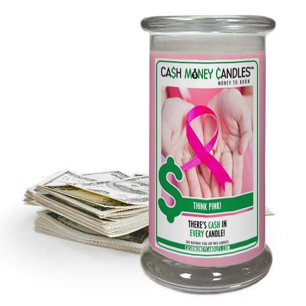 Think Pink! Cash Money Candles-Cash Money Candles-The Official Website of Jewelry Candles - Find Jewelry In Candles!