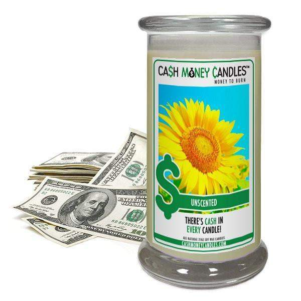 Unscented Cash Money Candles-Cash Money Candles-The Official Website of Jewelry Candles - Find Jewelry In Candles!
