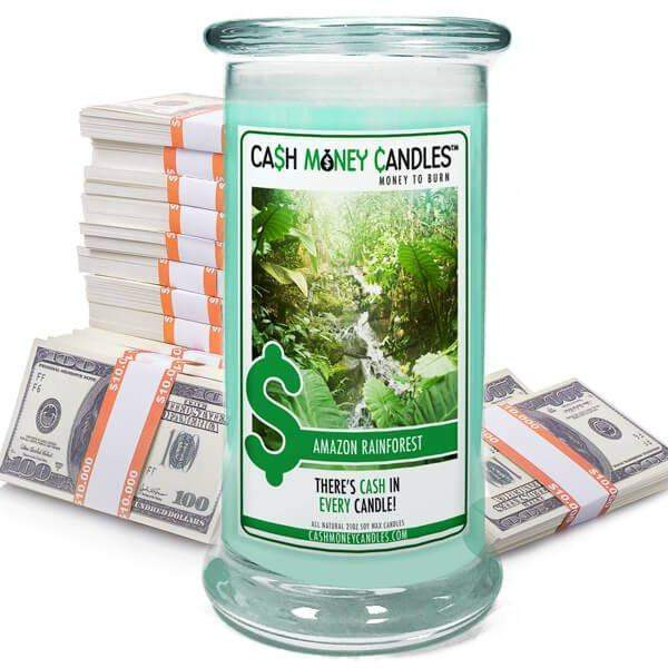 Amazon Rainforest Cash Money Candles-Cash Money Candles-The Official Website of Jewelry Candles - Find Jewelry In Candles!