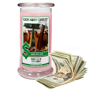 Warm Apple Cider Cash Money Candles-Cash Money Candles-The Official Website of Jewelry Candles - Find Jewelry In Candles!