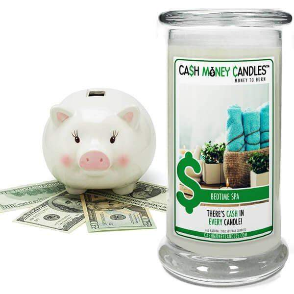 Bedtime Spa Cash Money Candles-Cash Money Candles-The Official Website of Jewelry Candles - Find Jewelry In Candles!
