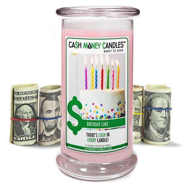Birthday Cake Cash Money Candles-Cash Money Candles-The Official Website of Jewelry Candles - Find Jewelry In Candles!