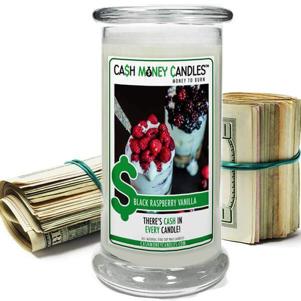 Black Raspberry Vanilla Cash Money Candles-Cash Money Candles-The Official Website of Jewelry Candles - Find Jewelry In Candles!