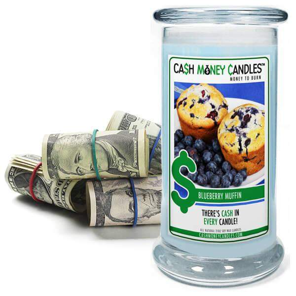 Blueberry Muffin Cash Money Candles-Cash Money Candles-The Official Website of Jewelry Candles - Find Jewelry In Candles!