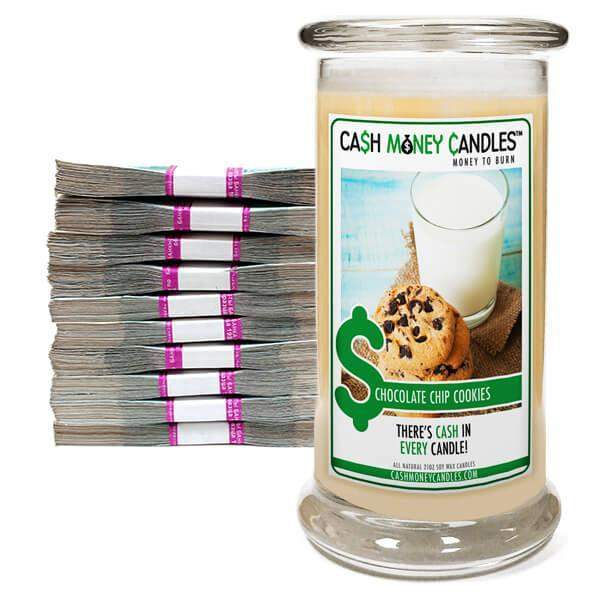 Chocolate Chip Cookies Cash Money Candles-Cash Money Candles-The Official Website of Jewelry Candles - Find Jewelry In Candles!