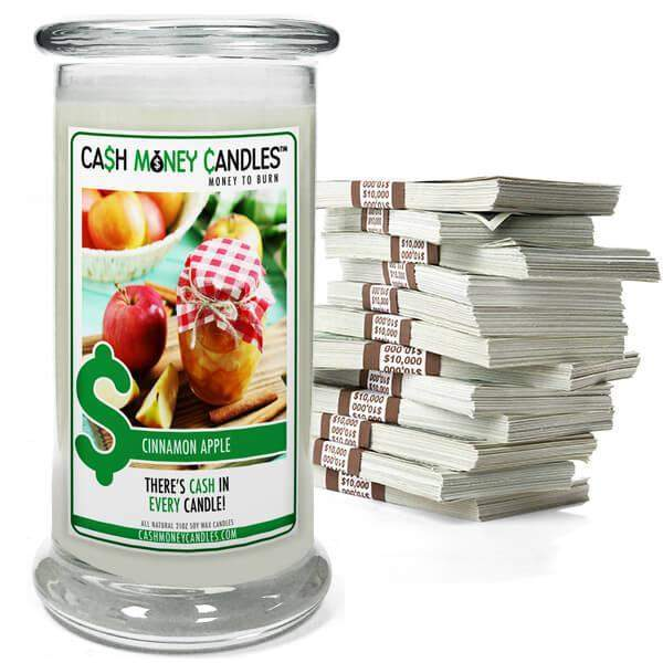 Cinnamon Apple Cash Money Candles-Cash Money Candles-The Official Website of Jewelry Candles - Find Jewelry In Candles!