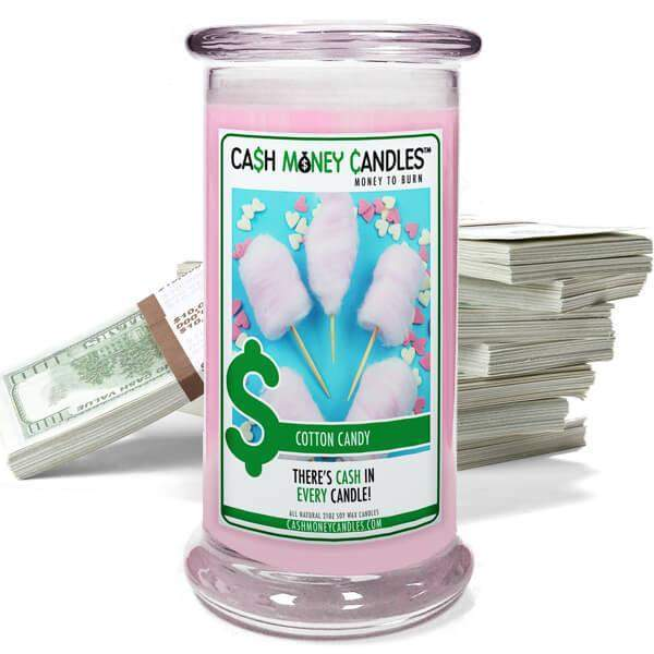 Cotton Candy Cash Money Candles-Cash Money Candles-The Official Website of Jewelry Candles - Find Jewelry In Candles!