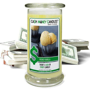 French Vanilla Cash Money Candles-Cash Money Candles-The Official Website of Jewelry Candles - Find Jewelry In Candles!