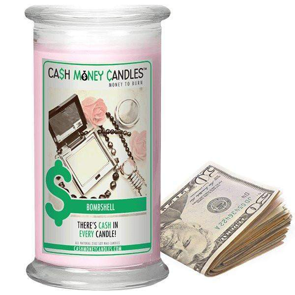 Bombshell Cash Money Candles-Cash Money Candles-The Official Website of Jewelry Candles - Find Jewelry In Candles!