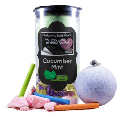 Cucumber Mint | Jewelry Chalkboard Bath Bombs-Chalkboard Bath Bombs-The Official Website of Jewelry Candles - Find Jewelry In Candles!