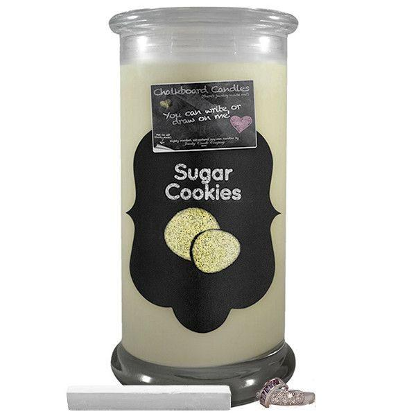 Sugar Cookies Chalkboard Candle-Chalkboard Jewelry Candles-The Official Website of Jewelry Candles - Find Jewelry In Candles!
